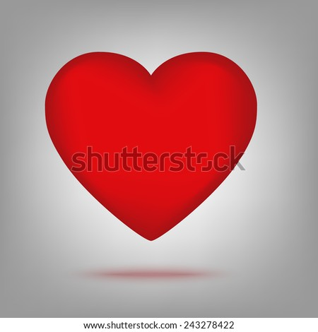 Red heart icon illustration - stock vector