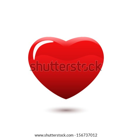 Red Heart isolated. Vector. - stock vector