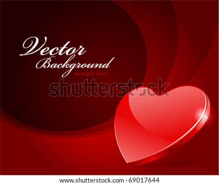 Red heart Valentine's day vector background