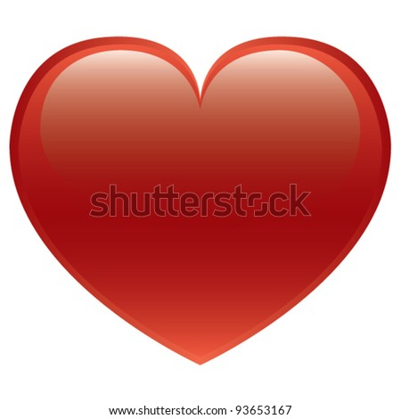 Red Heart Vector Isolated