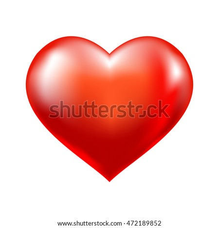 Red heart vector sign