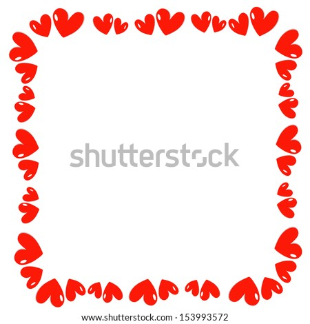 red hearts vector  - stock vector