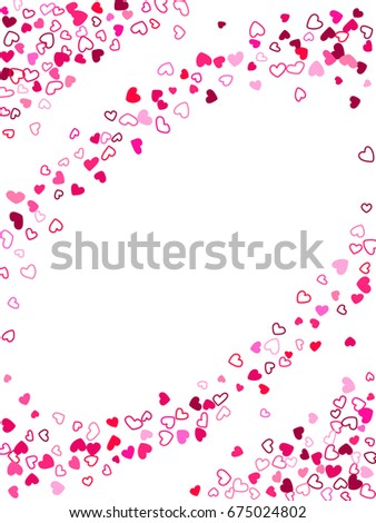 red hearts wedding background invitation card template day banner or card frame