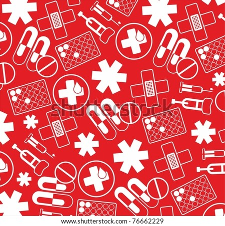 red hospital texture - stock vector