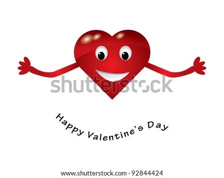 Red hugging heart - stock vector