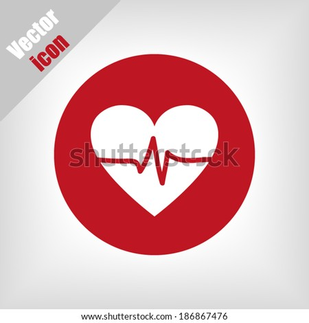 Red icons; vector illustration - stock vector