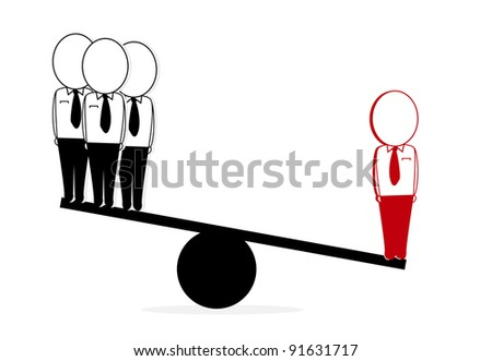red is a good quality compared with the three black - stock vector