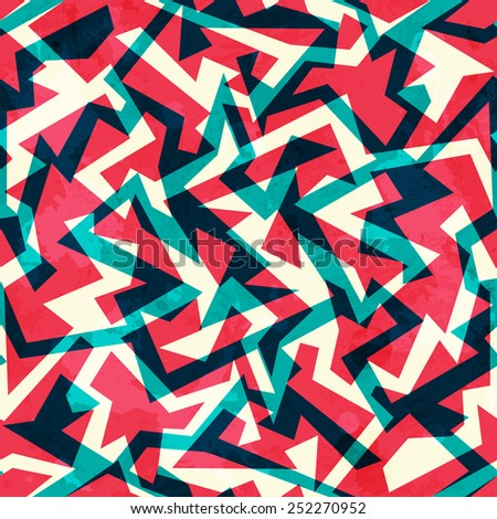 red labyrinth seamless pattern - stock vector
