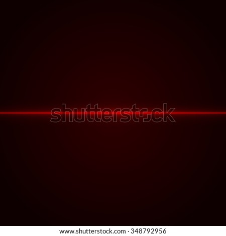 Red laser beam. Laser. Neon light. Light effect. Vector illustration. - stock vector