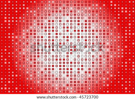 Red lighted squared pattern