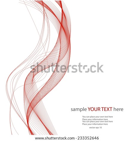 Red lines on wait background - stock vector