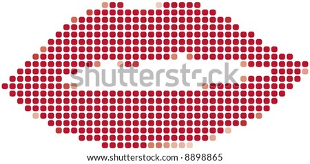 red lip - stock vector