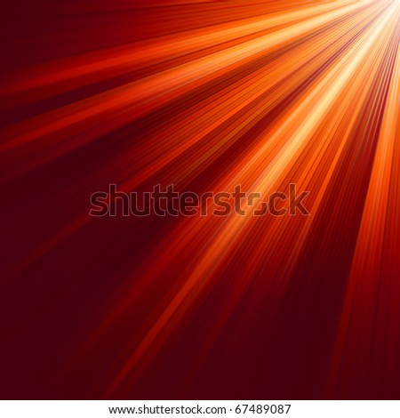 Red luminous rays. EPS 8 vector file included - stock vector