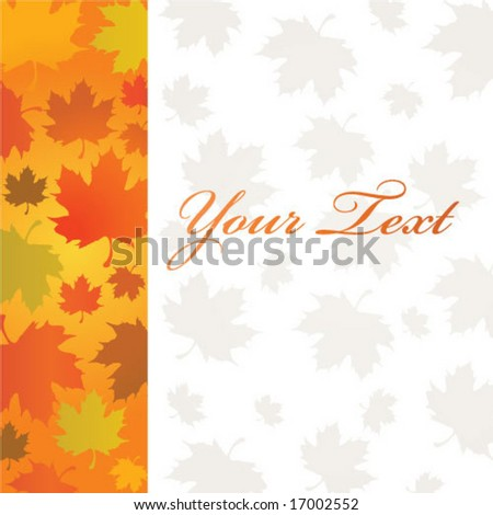 Red Maple leaves Autumn - stock vector