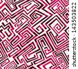 red maze seamless pattern - stock