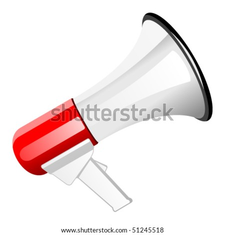 Red Megaphone Icon Stock Vector 51245518 - Shutterstock