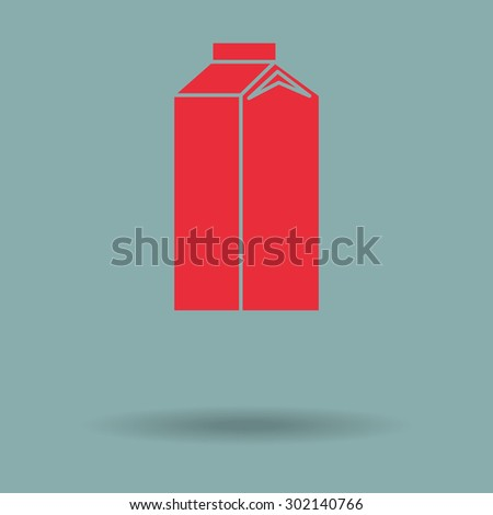 Red milk icon