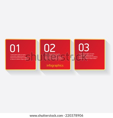 red modern paper banners set / can be used for infographics / numbered banners / horizontal cutout lines / graphic or website layout vector