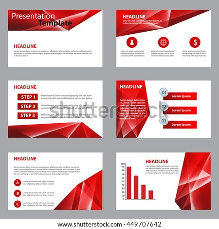 Red Multipurpose Infographic elements and icon presentation template flat design set for advertising marketing