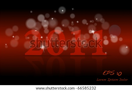 Red New year design vector EPS10 - stock vector