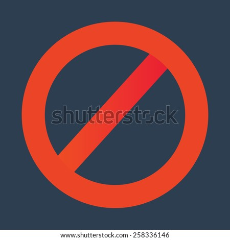 Red not allowed sign vector illustration. - stock vector