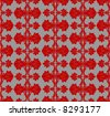 Red On Steel Seamless Background Patten. Vector Illustration. - stock vector