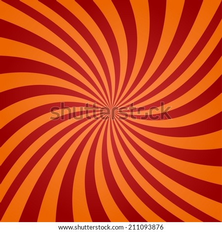 Red orange twisted background - vector version - stock vector