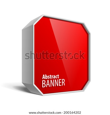 Red Package Box. For Software, electronic device and other products. Vector illustration. - stock vector