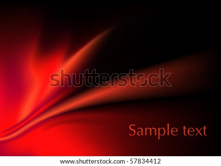 Red pattern, vector illustration - stock vector