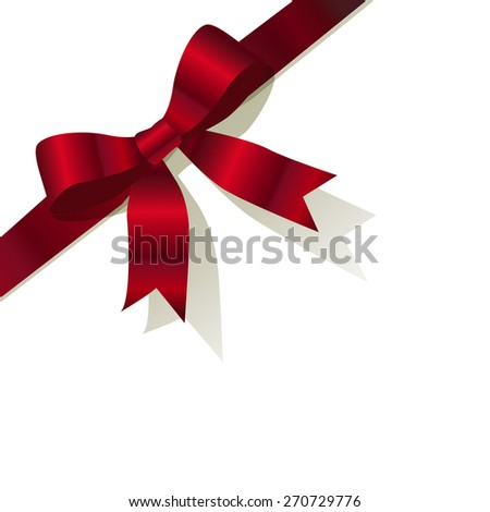 red pearl ribbon on the white background