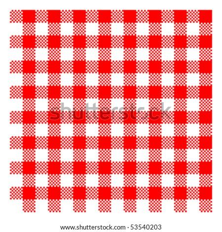 red picnic checkered cloth - vector - eps 10 - stock vector