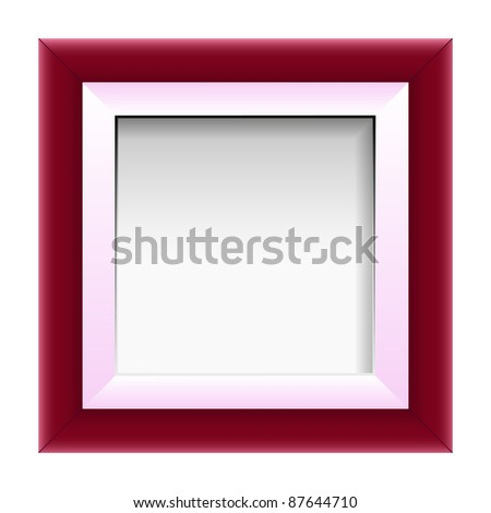red picture frame, vector