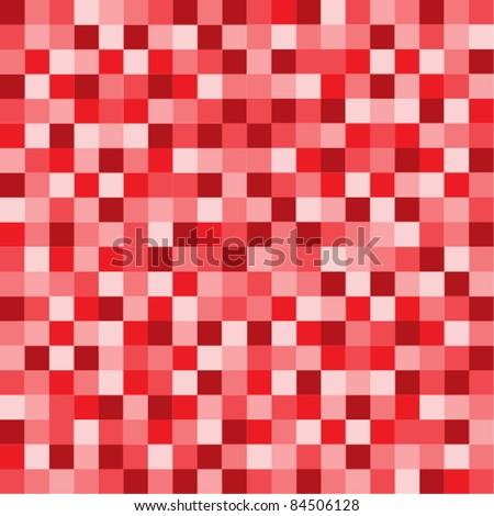 Red Pixel background - stock vector
