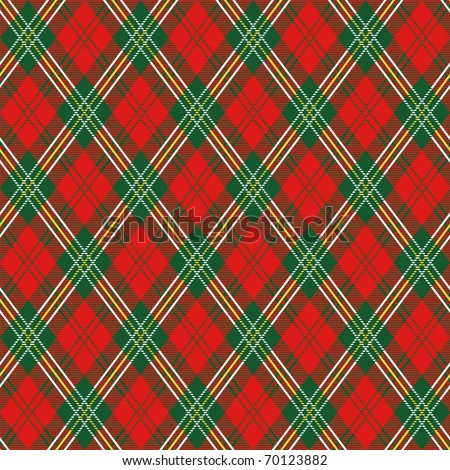 red plaid - stock vector
