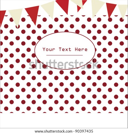 red polka  Background - stock vector