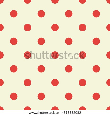 Red polka dot pattern. Vector illustration
