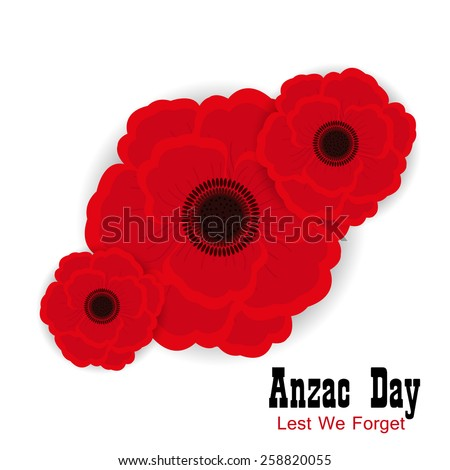 Red poppy flower anzac day remembrance stock vector royalty free red poppy flower for anzac day or remembrance armistice day mightylinksfo
