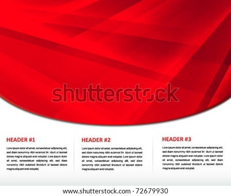 red presentation print and web template - stock vector