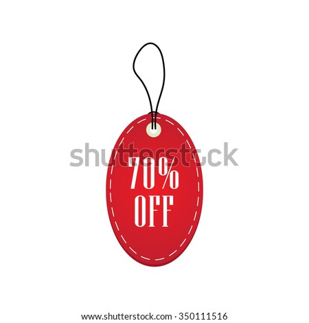 Red Price Sale Tag, Sticker