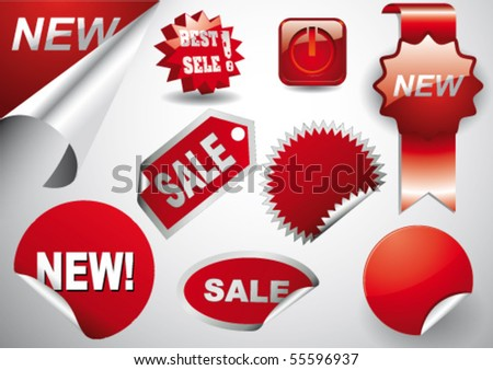 Red Prices - stock vector