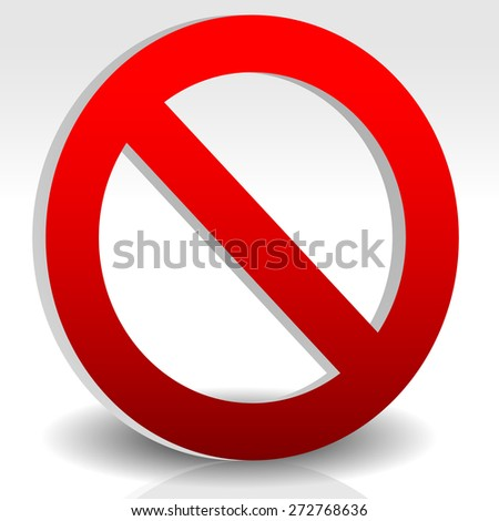 Red prohibition, restriction. no entry sign. Vector Illustration - stock vector