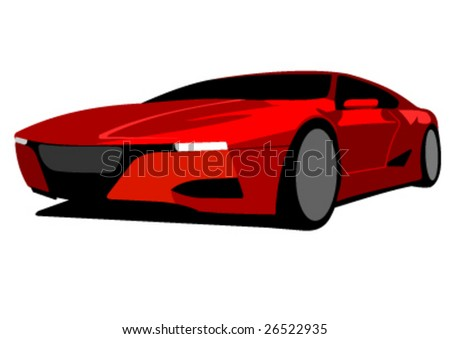 red race car prototype vector