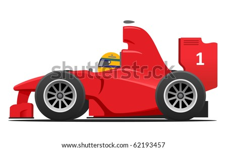 Red race car without Ad - stock vector