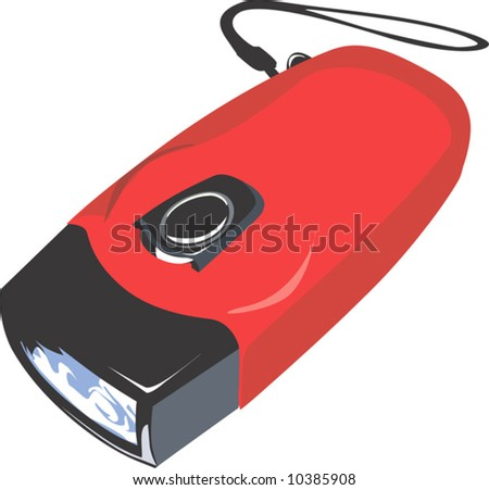 red rechargeable torch
