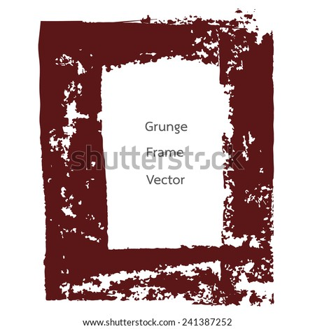 red retro grunge frame vector - stock vector