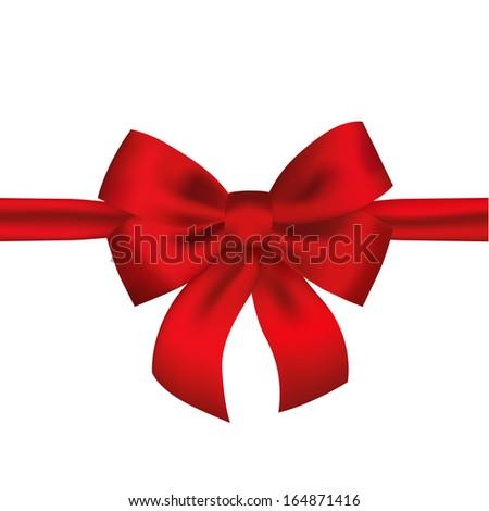 Red ribbon - stock vector