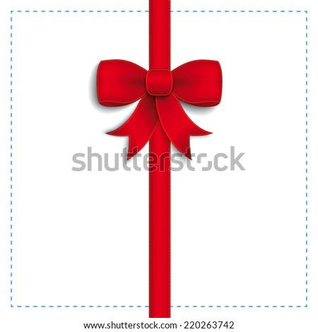 Red ribbon on the white background. Eps 10 vector file.