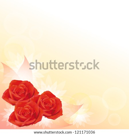 Red roses background, create by vector