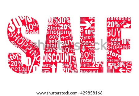 Red Sale word concept illustration