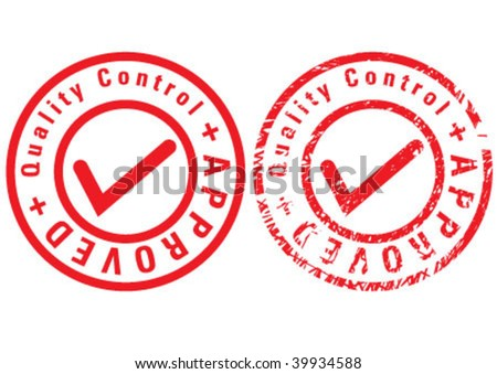 Red seal written on it approved - stock vector